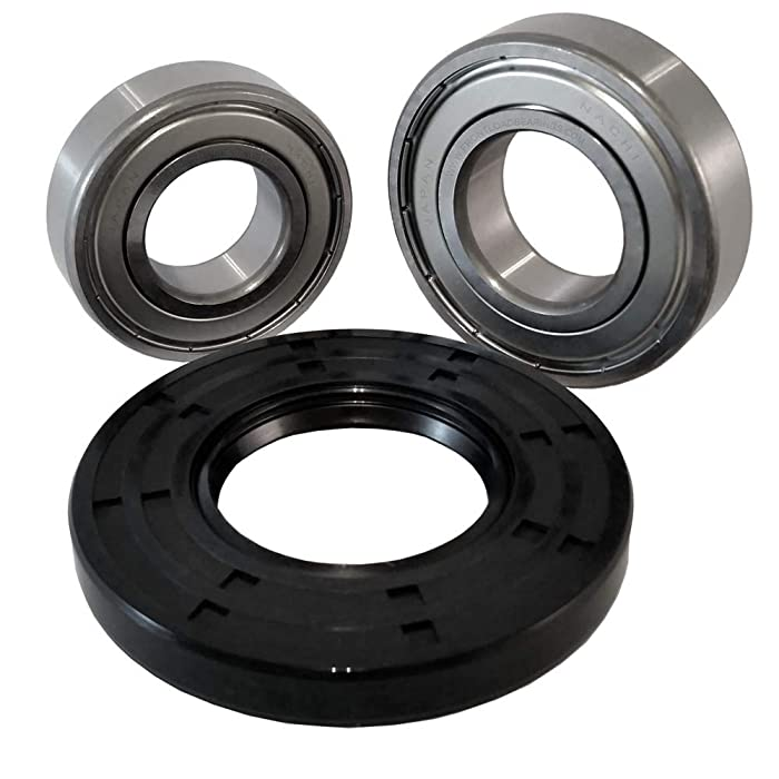 """Nachi Front Load Frigidaire Washer Tub Bearing and Seal Kit Fits Tub 131525500 (5 year replacement warranty and full HD""""How To"""" video included)"""