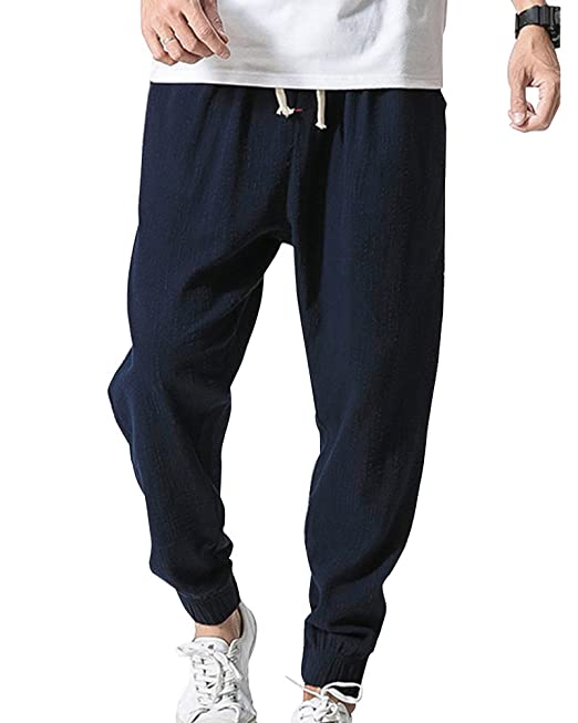 ShiFan Hombre Tallas Grandes Pantalones Casual De Jogging con Anchura Regulable De La Cintura Armada XS