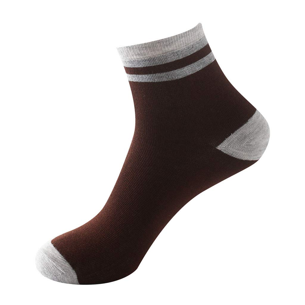 SOMESUN 1Pair Mens Non Elastic 100% Pure Cotton Socks Comfort Soft Grip Diabetic (Pink)