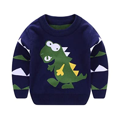 Logobeing Ropa Bebe Niña/Niño Abrigos Chaqueta Camisas Manga Larga Dinosaurio Dibujos Animados Suéteres Suaves