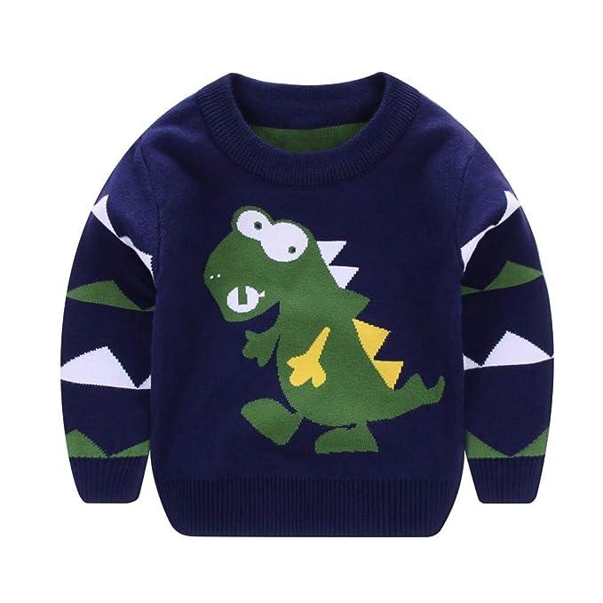 Logobeing Ropa Bebe Niña Niño Abrigos Chaqueta Camisas Manga Larga  Dinosaurio Dibujos Animados Suéteres Suaves aaee2ddbc601