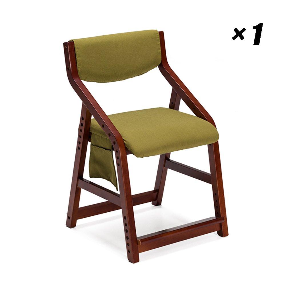 ソリッドウッドダイニングチェア子供の学習シートは、カフェ、ラウンジ、会議、オフィス用キッチンチェアヨーロピアンスタイルを持ち上げることができます48×51×71cm (色 : 赤茶色, サイズ さいず : Set of 1) B07F2H3ZTG Set of 1|赤茶色 赤茶色 Set of 1
