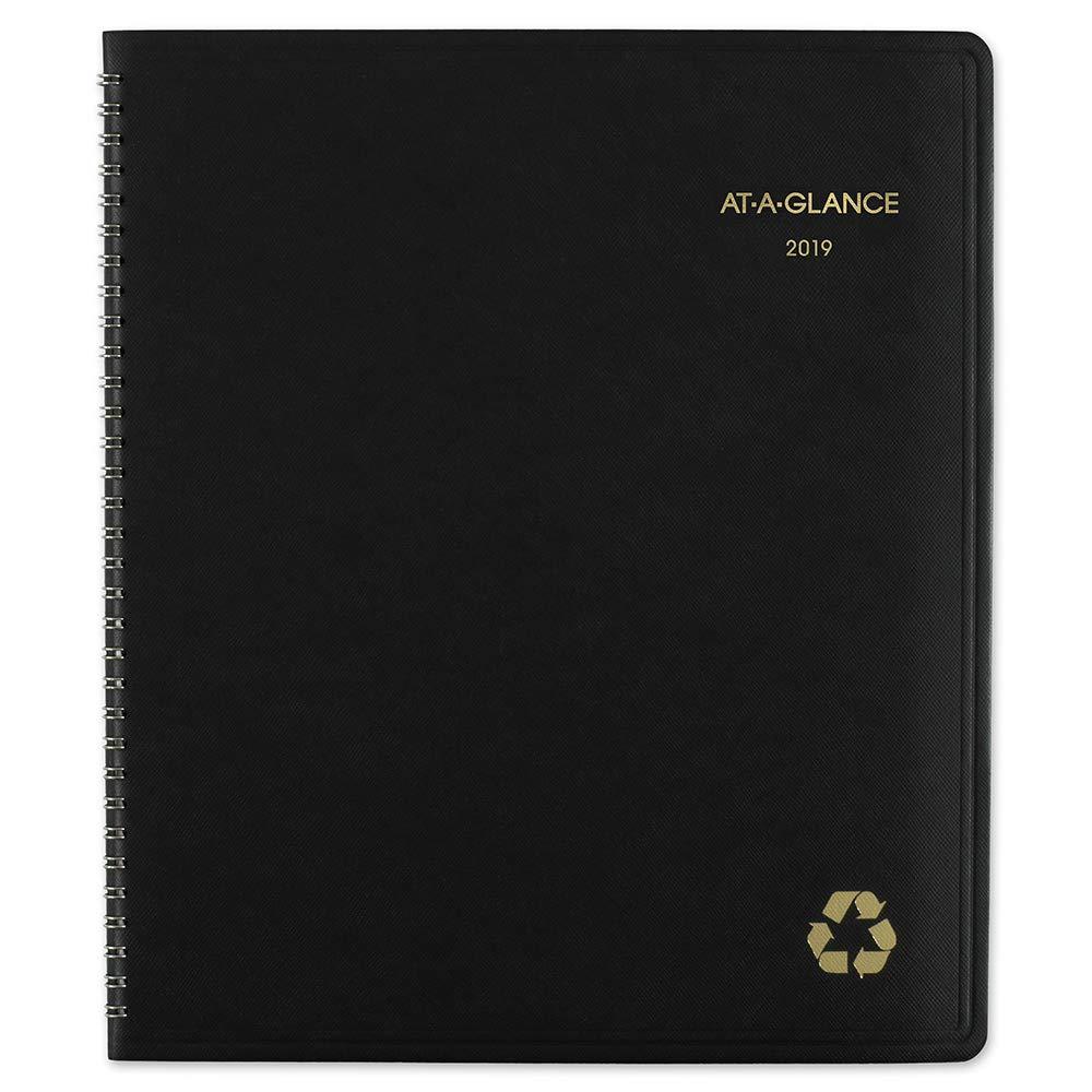 AT-A-GLANCE Planificador mensual, reciclado, enero 2019 ...