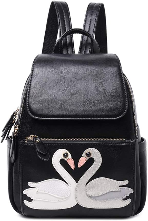 Color : Black, Size : 29cm24cm12cm HWX New Backpack for Women//Female Korean Version of The Trend of Wild Cute College Wind Leisure Travel Street Rucksack//Daypack