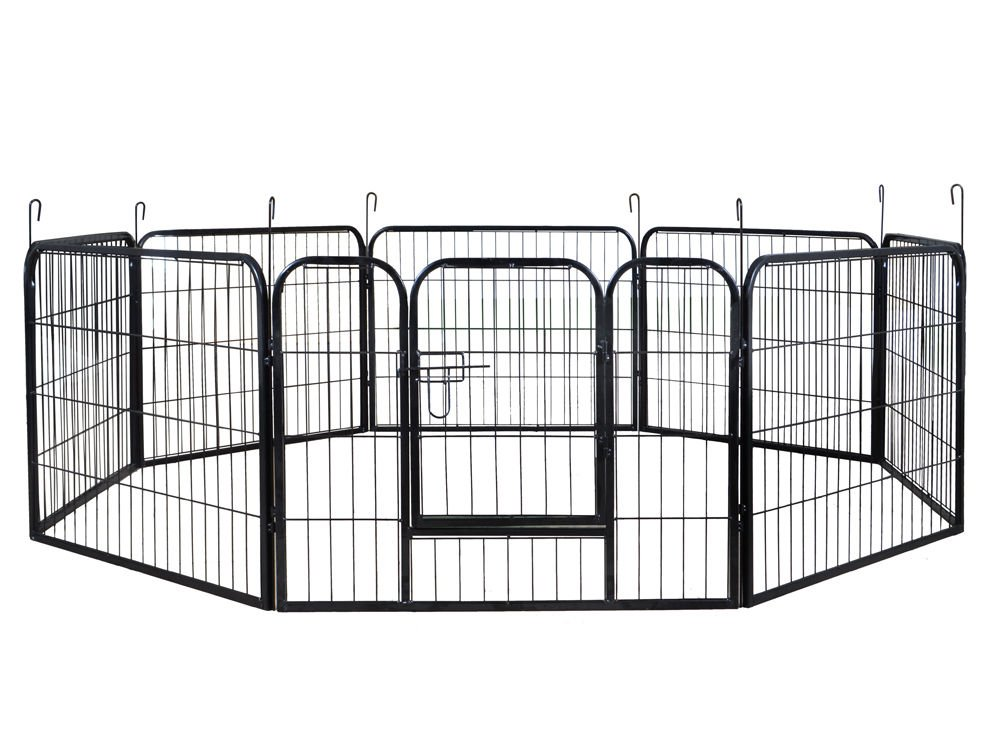 24'' Tall 16 Panels Metal Pet Dog Puppy Cat Exercise Fence Barrier Playpen Kennel by EGO BIKE