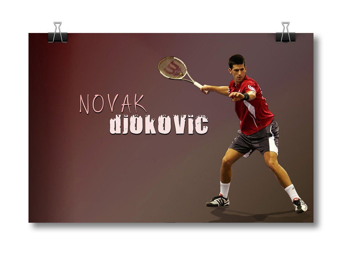 Choose a Size M NOVAK DJOKOVIC TENNIS Photo Quality Poster