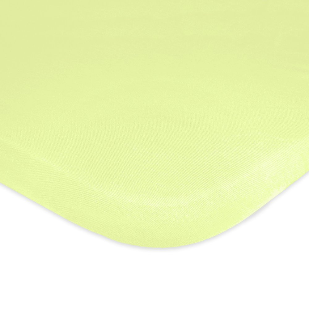 Carter's Jersey Knit Fitted Bassinet Sheet, Apple Green