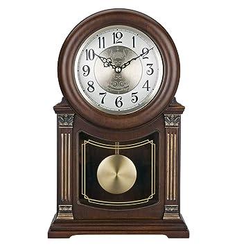 Relojes de mesa para la Sala de Estar Decoración Dormitorios Reloj de Escritorio Vintage Operado por batería Reloj analógico con Alarma Sin tictac Silencio ...