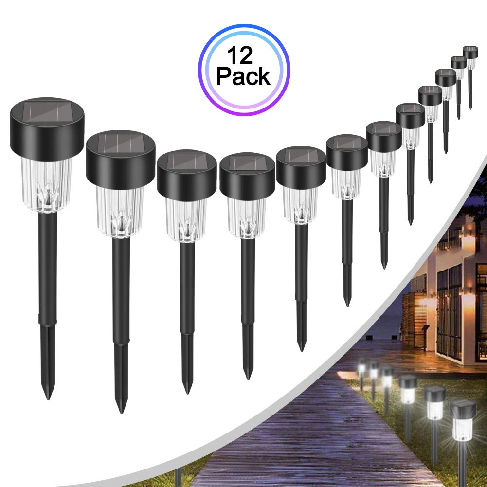 Solar Lights Outdoor or Solar Pathway Lights Outdoor or Solar Garden Lights or Solar Landscape Lights or Solar Lights for Outdoor Yard/Patio/Walkway/Driveway/Lawn/décor by sunpo