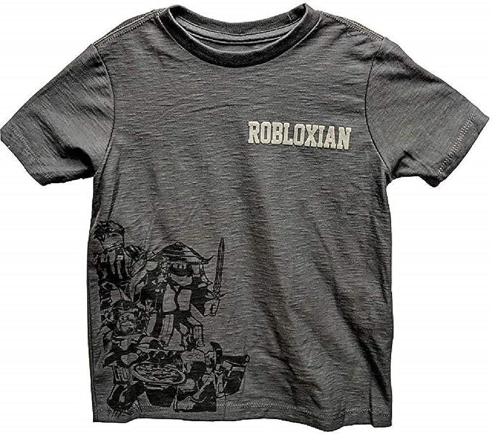 Amazon Com Roblox Grey Group Tee Robloxian Shirt For Boys X