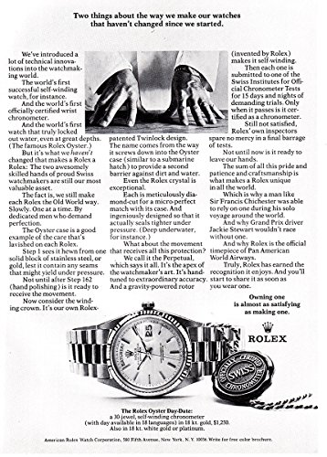 1971 Rolex Watch: Two Things About the Way We Make, Rolex Print Ad