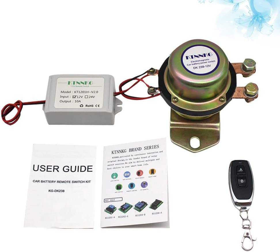 Wakauto Remote Control Battery Disconnect Switch Cut 12v Car Auto Vehicle Electromagnetic Disconnect Switch