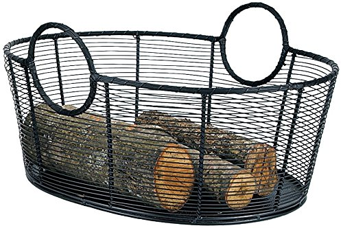 Minuteman International Handwoven Steel Woodbasket by Minuteman International