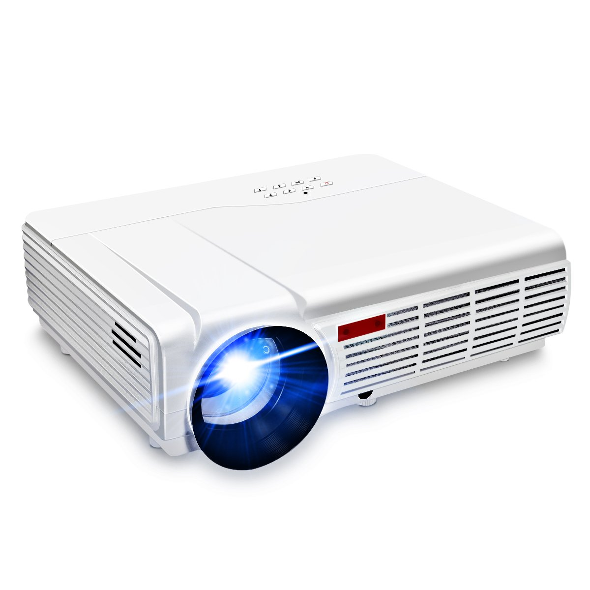 Wifi Projector,ELEGIANT 3000 Lumens Long life LED Full HD LED Home Cinema TV Projector Lcd Multimedia Video Game Projectors Support 1080P USB VGA AV TV Interface by ELEGIANT