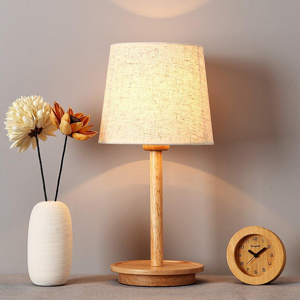 Minimalistische Massivholz Tischlampe Nachttisch Schreibtischlampe LED warme dekorative Tischlampe