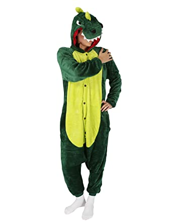 PIN® Unisex Costume Animal Cosplay Onesie Adult Pajamas Anime Cartoon  Sleepwear (S 457987b8d5301