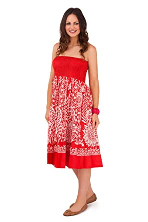 29d18707b17 Lora Dora WOMENS COTTON 2 IN 1 MAXI DRESS ELASTICATED LONG LENGHT SUMMER  SKIRT BEACH COVER UP LADIES S-XL  Amazon.co.uk  Clothing