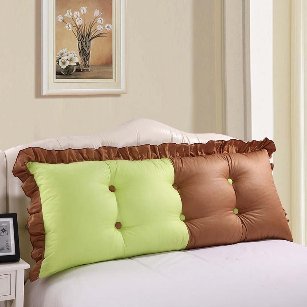 WEBO HOME- Lit en coton Gros coussins Coussins d'oreillers pour canapé double dossier -Coussin - oreiller ( Couleur