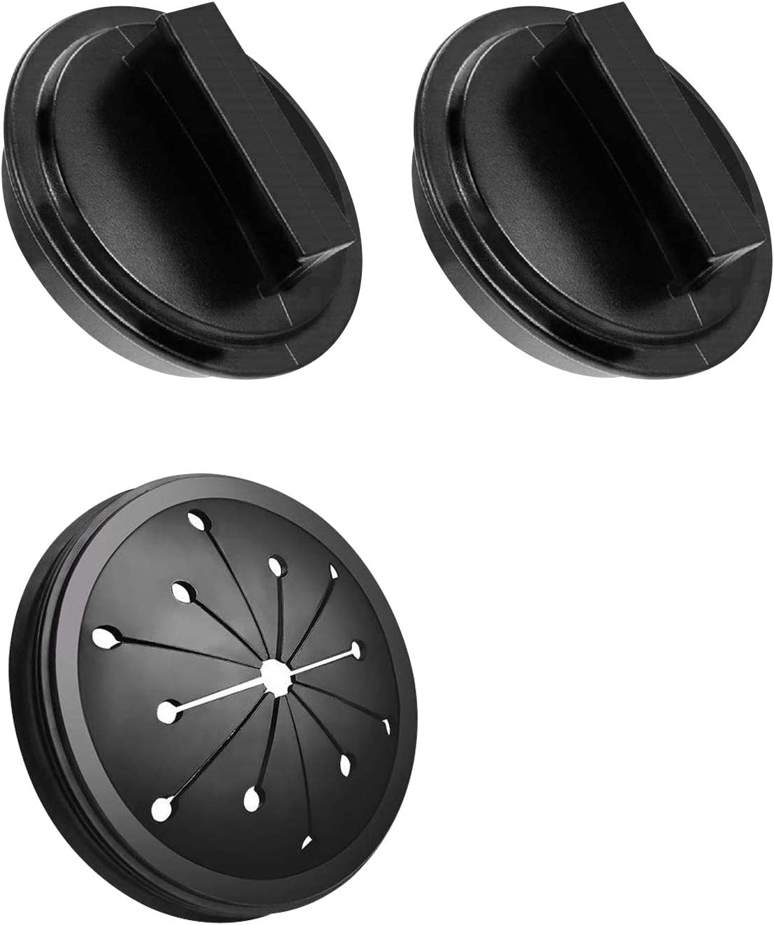 Garbage Disposal Splash Guards Set 3 Pack(2+1) Removable Sink Baffle and Food Waste Disposer Accessories for Kitchen