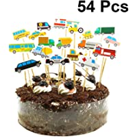 Amosfun 54 UNIDS Construcción Cupcake Toppers Coche Vehículo