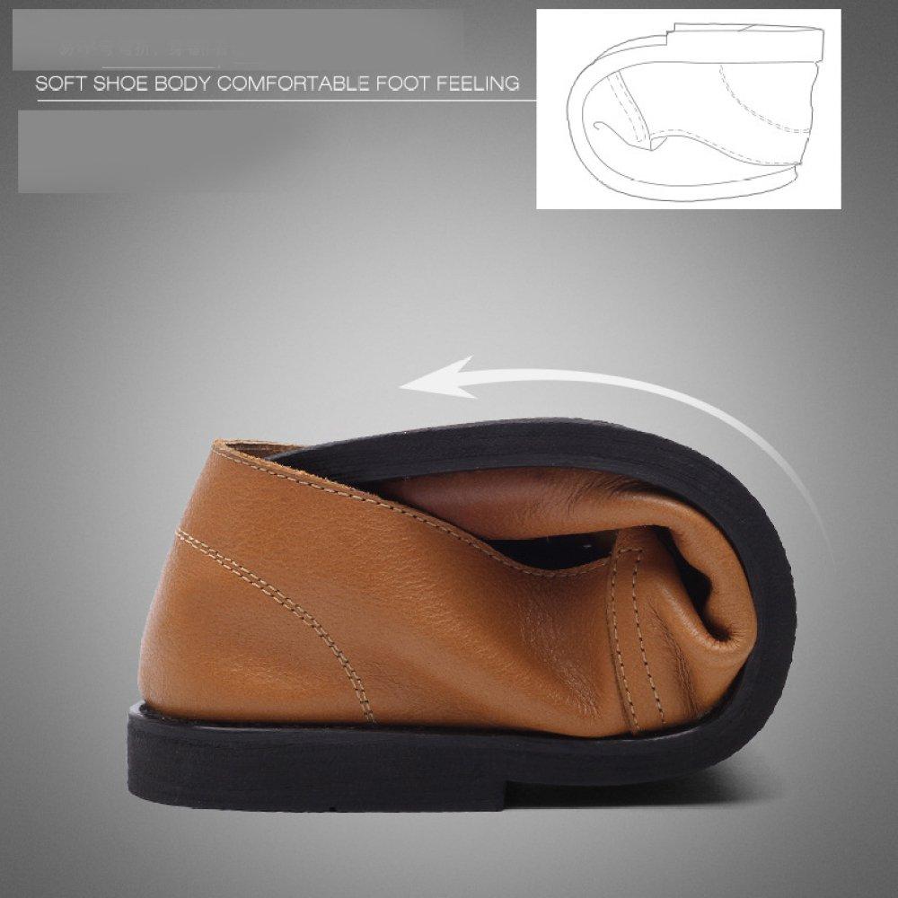 YXLONG Business Casual Schuhe der Männer Frühling und Britische Herbst Leder Atmungsaktiv Wildleder Britische und Flut Schuhe Männer goldenyellow1812 d1d99a