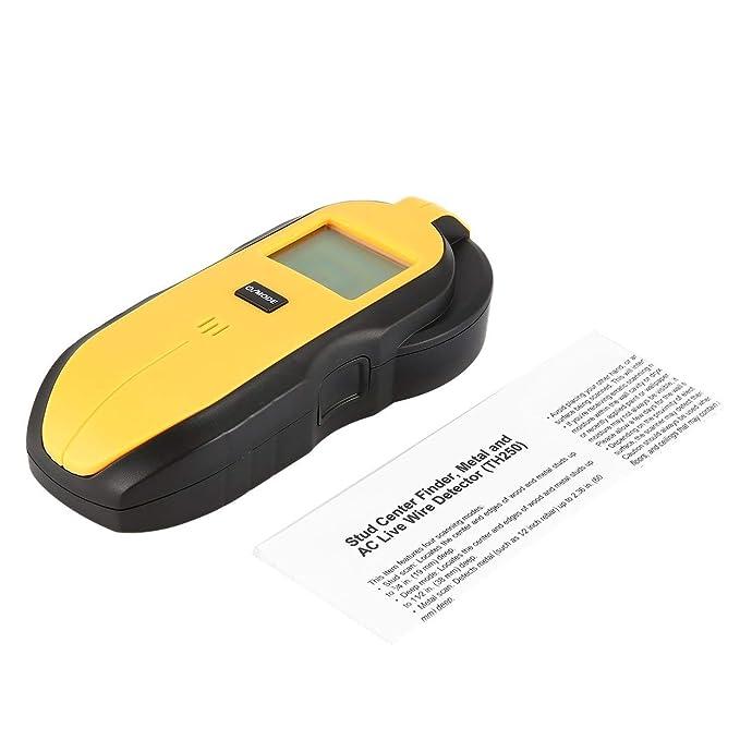 TH250 Digital Mini 3 en 1 Wood Metal AC Live Detector de Medidor de Cable Probador Portátil Treasure Screw Wall Stud Hunter Finder Scan: Amazon.es: ...