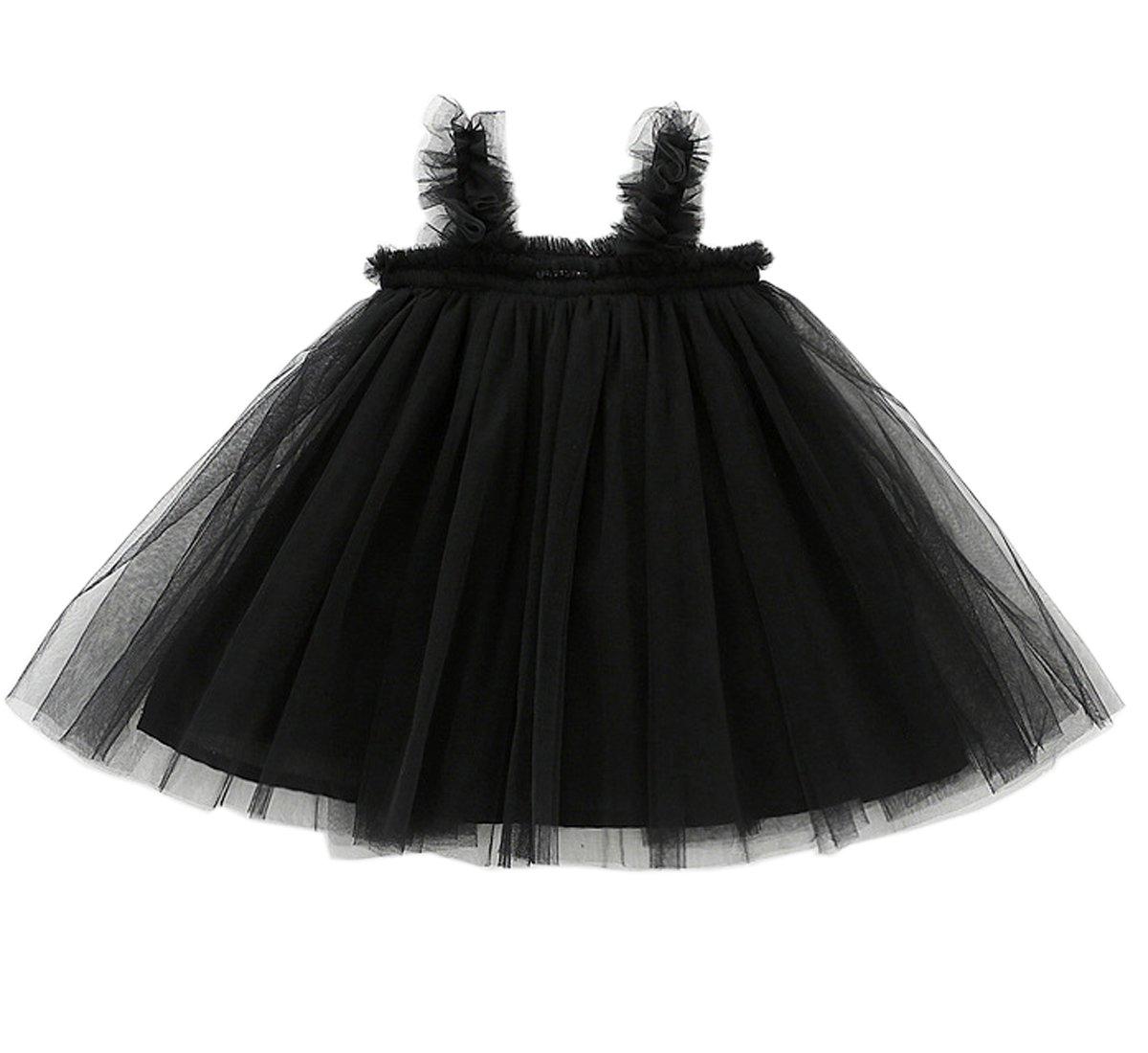 LYXIOF Baby Girls Tutu Dresses Sleeveless Princess Dress Infant Tulle Dress Toddler Sundress Black 18 Months