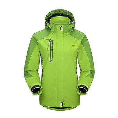 feabce2553c1e iBaste Women Waterproof Jacket with Hood Raincoat Hiking Climbing Coats  Breathable Hiking Jackets Plus Size (2XL