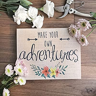 "Barnyard Designs Make Your Own Adventures Box Sign, Primitive Country Farmhouse Home Decor Sign with Sayings 10"" x 8"""