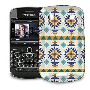 Phone Case For BlackBerry Bold 9900 / 9930 - Sante Fe Tribal Gold & Blue Snap-On Hardshell