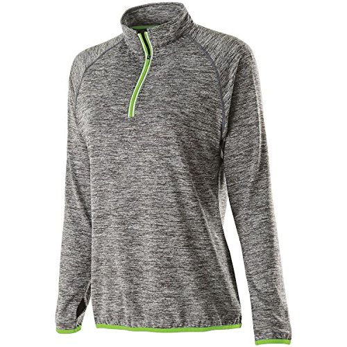 Holloway Sportswear WOMEN'S FORCE TRAINING TOP Women's M Carbon Heather/Lime by Holloway