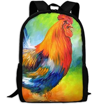 f97f70592e47 Amazon.com: Backpack Colorful Cool Rooster Womens Laptop Backpacks ...