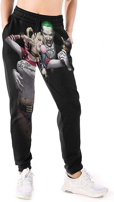 Amazon Com Harley Quinn And Joker Pantalones De Chandal Para Mujer Clothing