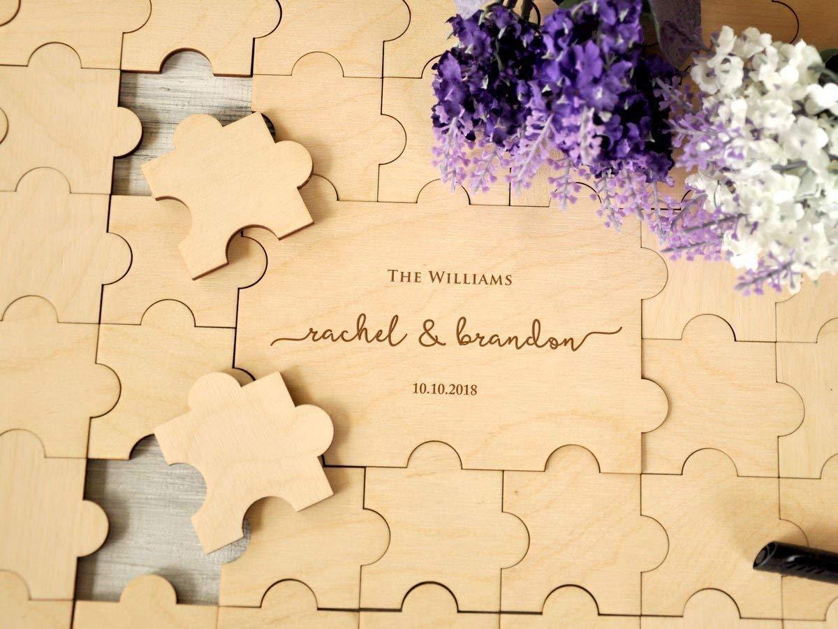 b0589aa37462b Rustic Wedding Guest Book Alternative Custom Guest Book Jigsaw Puzzles  Rustic Guest Book Wedding Sign Canvas Guestbook Wood Wedding Gift 20-236  pieces