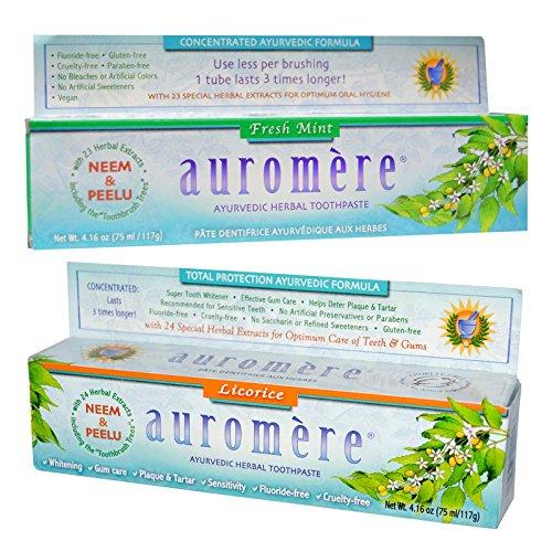 auromere-fresh-mint-ayurvedic-herbal-toothpaste-and-licorice-ayurvedic-herbal-toothpaste-bundle-with