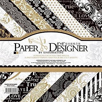 Origami Blaetter , 20 3 X 20 3 Cm 40 Blatt Pack Papier Design Set Origami Vintage