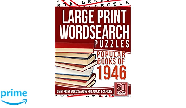 Large Print Wordsearch Puzzles Popular Books Of The 1946 Giant