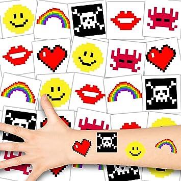 German Trendseller 36x Tatouages Pixel Tatouage