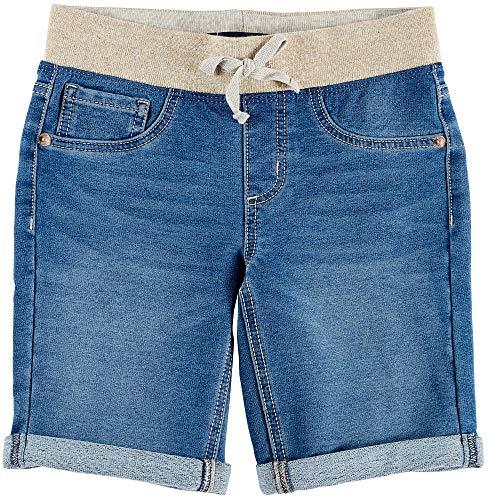 (Vanilla Star Big Girls Knit Waist Bermuda Shorts 10 Blue/Gold)