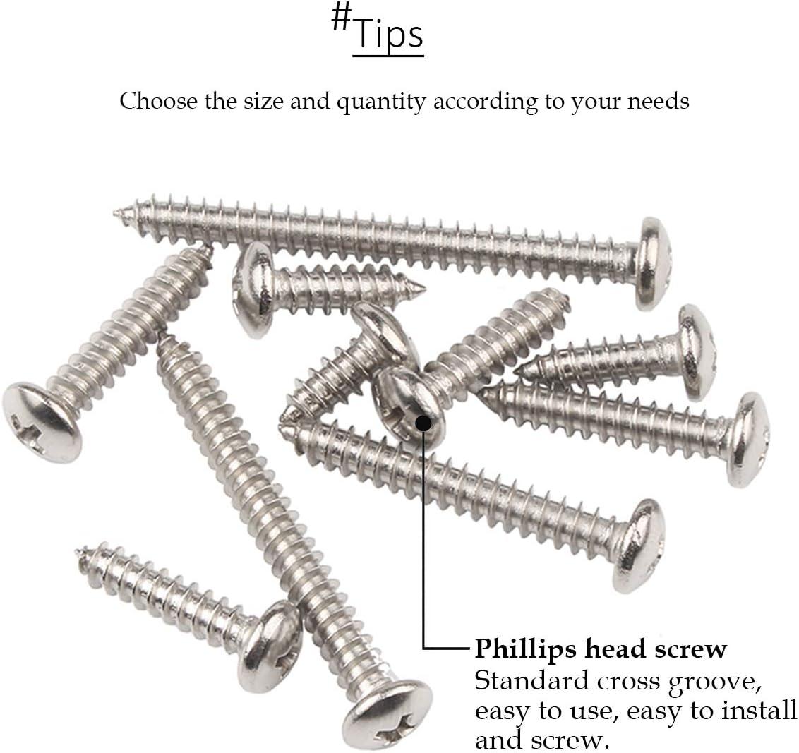 DAZISEN Self Tapping Screws and Phillips Wood Screw Fasteners M4
