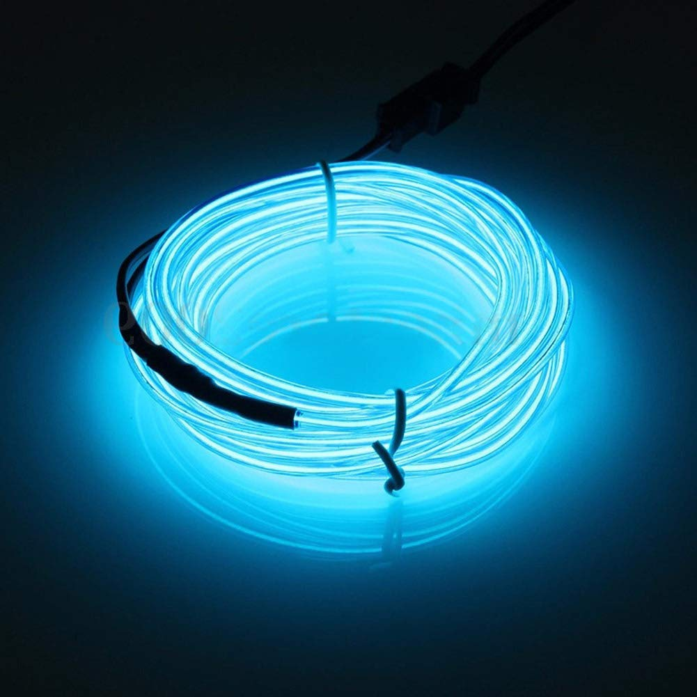 EL Wire Cable LED Glow String Light DC 12V per decorazione di auto Illuminazione per interni auto Auto LED Strip Garland 2M Purple Luce al neon flessibile