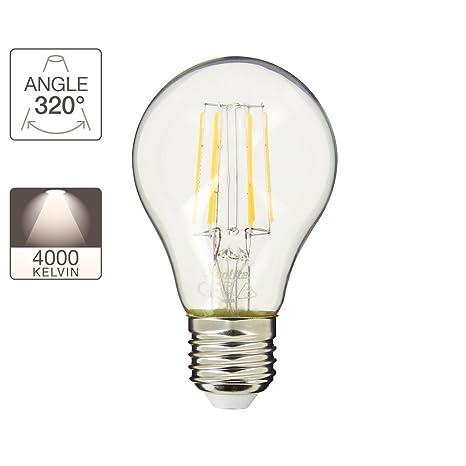 Bombilla LED con filamento A60 blanco neutro - 700 lúmenes (equivalente a60 W) E27
