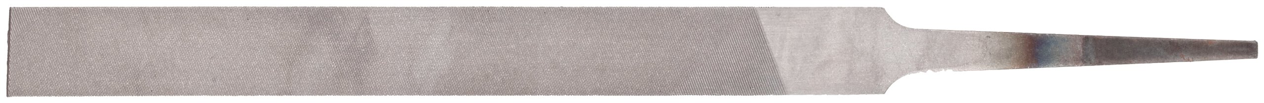Nicholson Hand File, Swiss Pattern, Double Cut, Rectangular, #2 Coarseness, 4'' Length