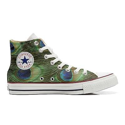 mys Converse All Star chaussures coutume mixte adulte (produit artisanalPersonnalisé) Peacock