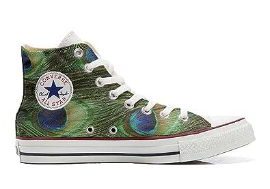 Converse All Star personalisierte Schuhe (Handwerk Produkt) Pfau