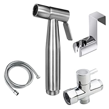 Joyway Hand Bidet For Toilet Attachment Stainless Steel Handheld Bidet  Sprayer Kit For Bathroom Self