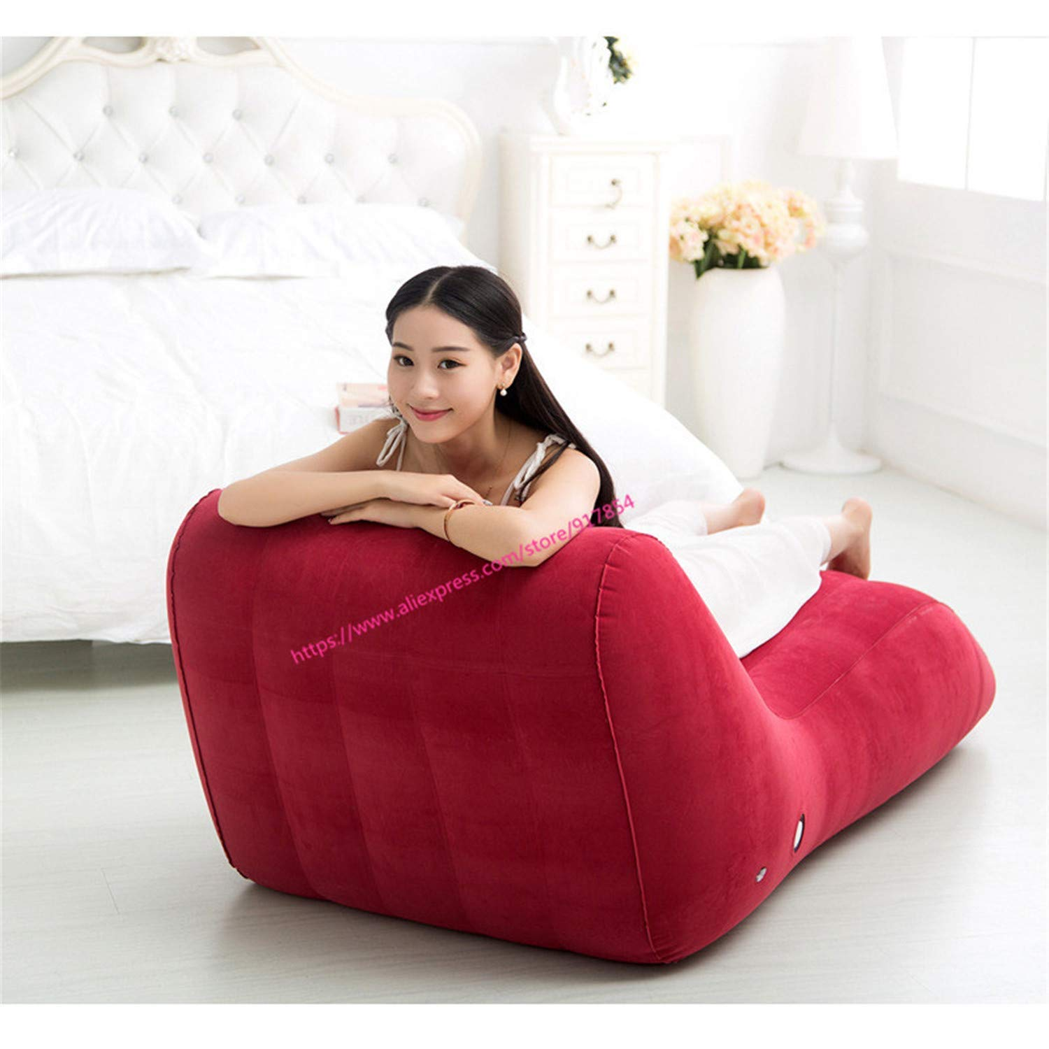Love,Superior S-Type Position Sex Sofa, Sex Furniture Inflatable Chair, Love Sex Chair Adult Car Bed Set Sex Toys for Couples.