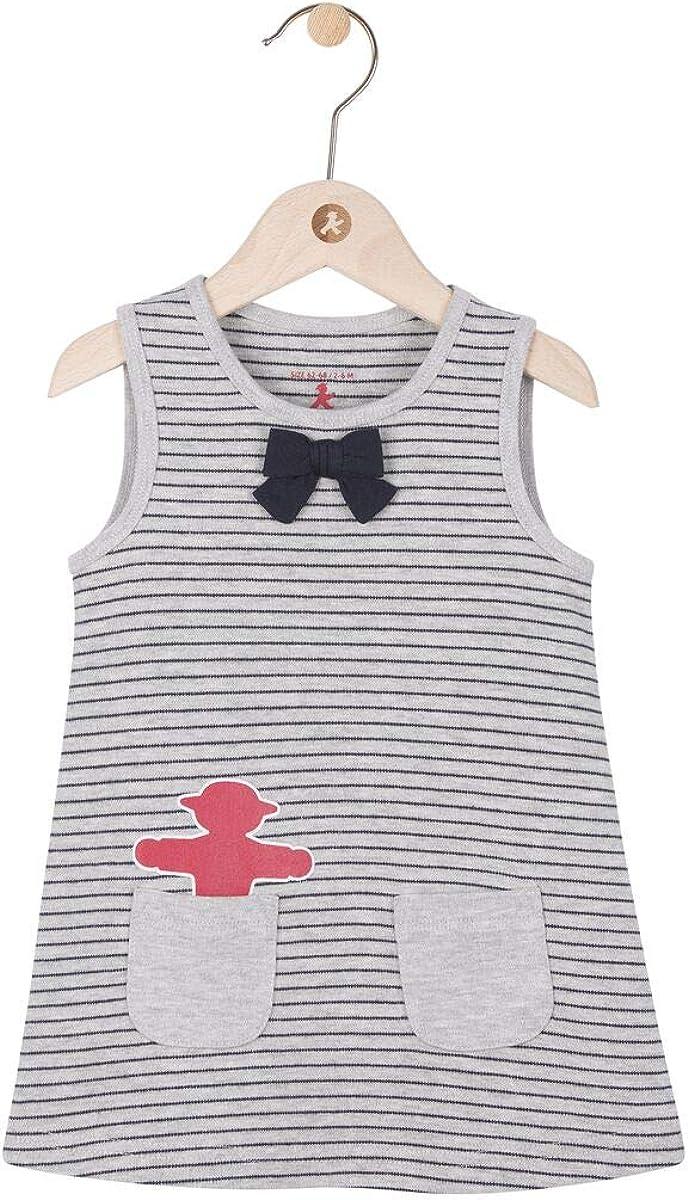 grau gestreift mit Fronttaschen aus Baumwolle /& Viskose Baby Kleid AMPELMANN Kleine Stadtg/öre