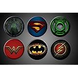 DC Comics Superhero Magnets Superman Batman Green Lantern Arrow Wonderwoman Flash Fridge magnets 1 inch round