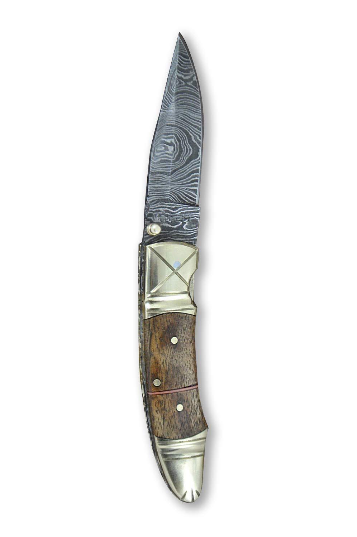 Acero de Damasco Caza - - Cuchillo: Amazon.es: Deportes y ...